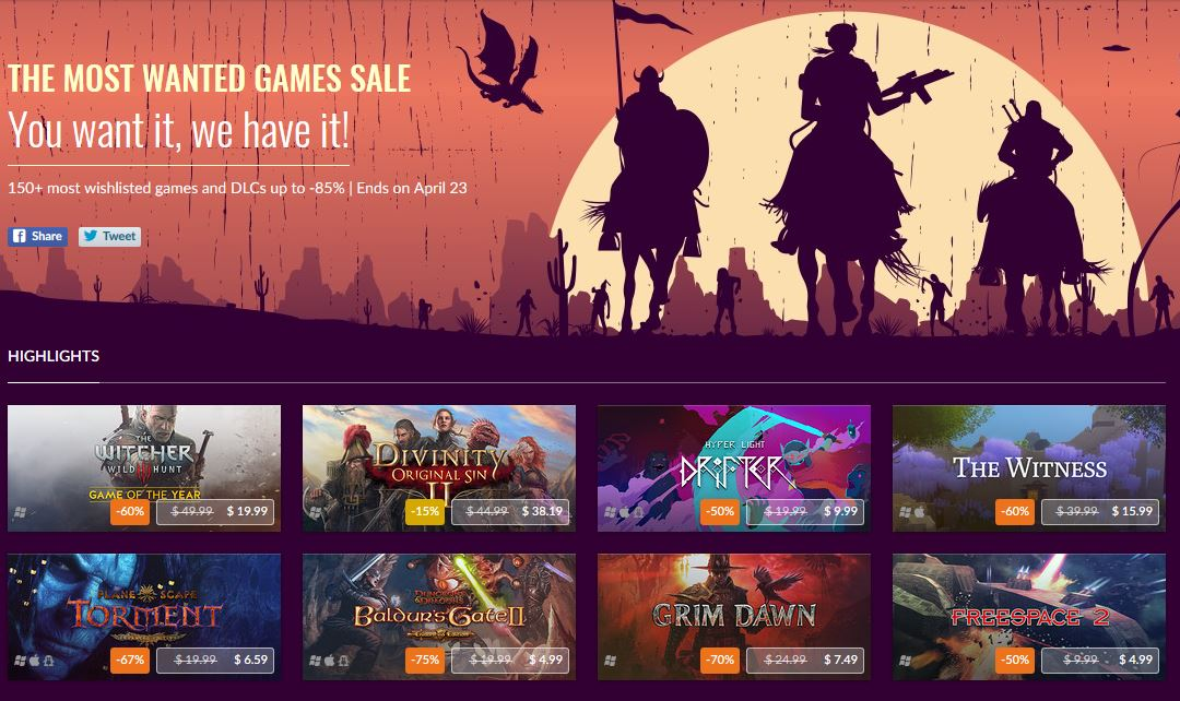 GOG.Com Top Wishlisted Games Discounted ss1