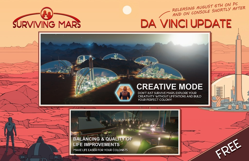 Surviving Mars Free Updates Title